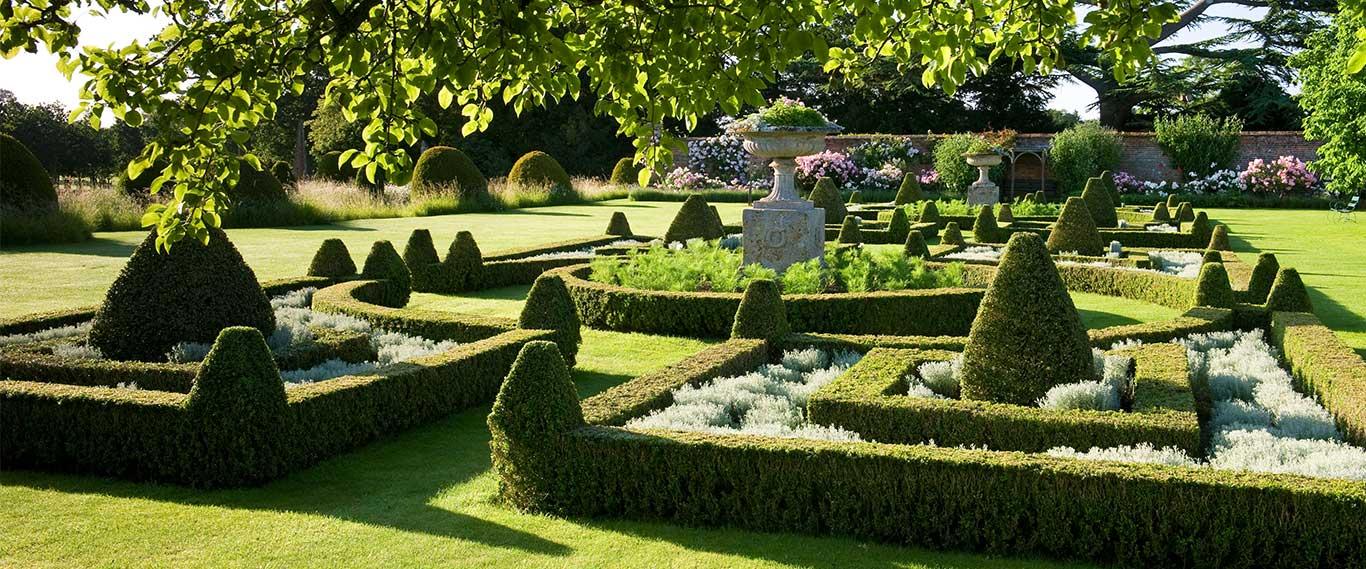 The Parterre and Hybrid Musk Garden | Helmingham Hall Gardens